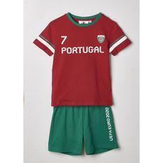 UEFA Pyjashort EURO 2021 Portugal garçon (Rouge)