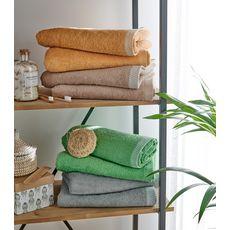 Maxi drap de bain uni en coton 450 g/m²