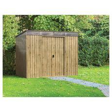 DURAMAX Abri de jardin métal imitation bois Skylight 4,84m² + kit ancrage inclus
