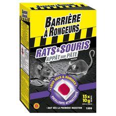 BARRIERE A INSECTES Barrière à rongeurs Appât sur pâte anti-rats et anti-souris x15 15 pièces