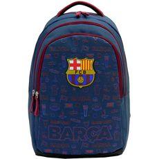 FC Barcelona Sac à dos à roulettes 2 compartiments bleu FC BARCELONE