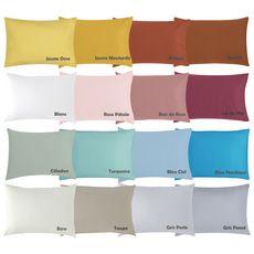PTIT BASILE Lot de 2 taies d'oreiller bébé en coton bio 40 x 60 cm coloris unis  (Blanc)