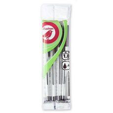 Lot de 4 stylos bille pointes moyennes encre noire