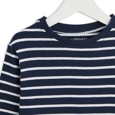 IN EXTENSO T-shirt manches longues à rayures garçon (Bleu marine )