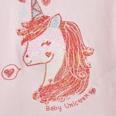 IN EXTENSO T-shirt manches longues licorne bébé fille (Rose clair )