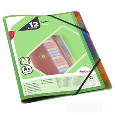 AUCHAN Trieur 12 positions polypro personnalisable vert