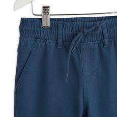 IN EXTENSO Pantalon twill taille élastiquée garçon (Bleu)