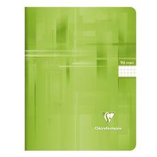 CLAIREFONTAINE Cahier piqué 24x32cm 96 pages petits carreaux 5x5 vert