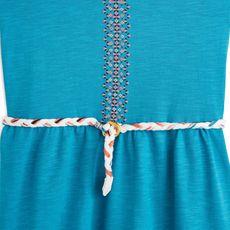 IN EXTENSO Robe ceinturée fille (Bleu turquoise)