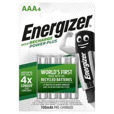 Energizer Piles LR03/AAA power plus rechargeables 1,2v x4 4 pièces