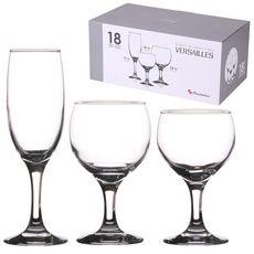 PASABAHCE Service de 18 verres à pied VERSAILLES (Transparent)