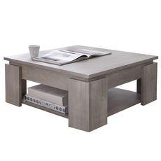 Table basse carrée SEGURO L80x80cm (Chêne clair)