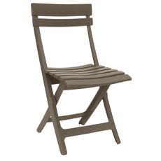 GROSFILLEX Chaise de jardin pliante résine MIAMI taupe