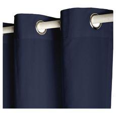 TODAY Rideau à oeillets isolant double face en polyester 140x240 cm (Bleu foncé)