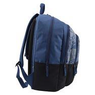 Sac à dos Premium brillant dans le noir 3 compartiments polyester noir et bleu TIGER STREET CODE