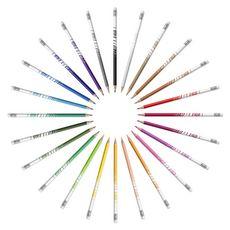 BIC Etui de 24 crayons de couleur effaçables Kids Evolution Illusion
