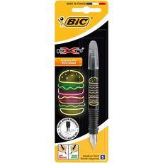 Stylo plume pointe moyenne X Pen décor burger