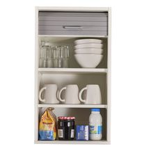 Rangement de cuisine à rideau coloris blanc L40 cm - COOKING