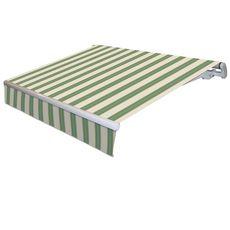 INTERSUN Store motorisé 5x3.5m monobloc toile rayée VERACRUZ  (Jaune vert)