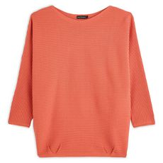 IN EXTENSO Pull manches 3/4 femme (Rose corail)