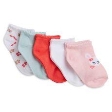 IN EXTENSO Lot de 5 paires de socquettes bébé fille (Rose clair )
