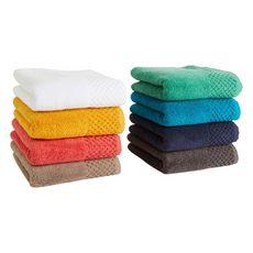 ACTUEL Serviette de toilette unie pure coton qualité Zéro Twist 500 g/m²