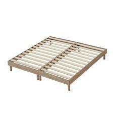Ensemble literie  prêt à dormir Paul 180x200 cm : matelas +  2 sommiers + couette + oreillers  (Chêne gris)