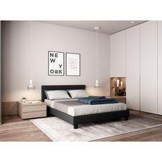 Lit avec tête de lit et sommier à lattes 140x190 cm MARTIN
