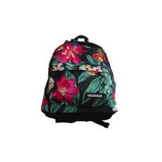 Sac à dos 1 compartiment + poche avant fille Bonne multicolore motif tropical
