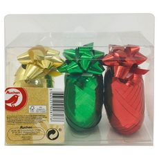 AUCHAN Kit emballage cadeau fleurs + bolducs 1 lot