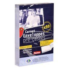 AUCHAN Enveloppes précasées blanches 114x162mm x50 50 pièces