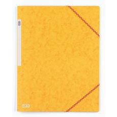 Chemise cartonnée à élastiques 17x22cm jaune