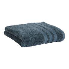 ACTUEL Drap de bain uni en coton 500 g/m² (Bleu foncé)
