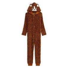 IN EXTENSO Combinaison peluche léopard coton bio fille