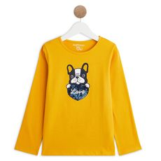 IN EXTENSO T-shirt manches longues chien fille
