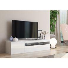 Meuble TV 150cm 2 portes 1 niche TECHNO