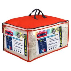 DODO Pack Couette tempérée + oreiller moelleux en microfibre BACK TO SCHOOL  (Blanc)