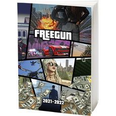 FREEGUN Agenda scolaire journalier Freegun 2D GTA 2021-2022