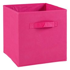 Tiroir boîte en tissu et carton BRIK, 12 coloris (Fushia)