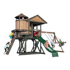 Backyard Discovery Aire de jeux en bois EAGLE NEST