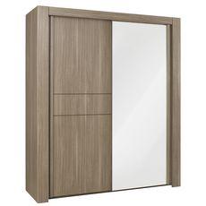 GAMI Armoire 2 portes coulissante avec miroir L92cm ALLIANCE