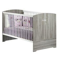 BABY PRICE Lit bébé évolutif 140x70 cm Little Big Bed HAPPY, Chêne Silex
