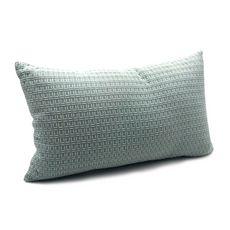 TODAY Coussin uni déhoussable rectangulaire en coton 145 g/m2 brodé TERRA ROSA