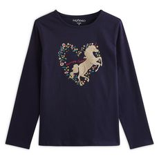 IN EXTENSO T-shirt manches longues cheval fille