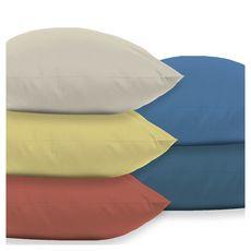 Taie d'oreiller unie en coton 47 fils  (Bleu foncé)