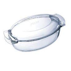 PYREX Cocotte ovale en verre 5,80 L (4,40 + 1,40 L) CLASSIC
