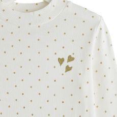 IN EXTENSO T-shirt manches longues à pois fille (Ecru)