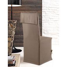 Housse de chaise finition carrée en coton