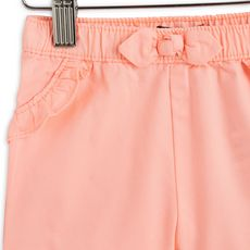 IN EXTENSO Short twill bébé fille (Rose corail)