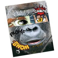 Chemise à élastiques 24x32cm 3 rabats Camps Sauvage - Gorille